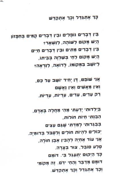 Yehuda Amichai poems